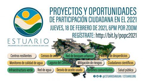 Proyectos y oportunidades de participación ciudadana en el 2021