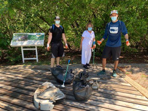 Un éxito la Limpieza Internacional de Costas 2021 en la Laguna del Condado